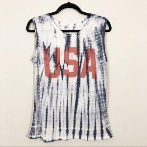 Zoe + Liv | USA Tie Dye Tank Top